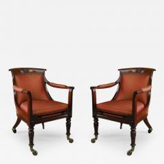 Pair of George IV Mahogany Bergeres - 277852