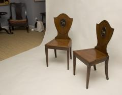 Pair of Georgian Mahogany Hall Chairs - 85780
