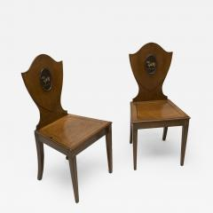 Pair of Georgian Mahogany Hall Chairs - 86509