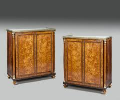 Pair of Georgian Satinwood Two Door Cabinets - 1145556