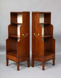 Pair of Georgian Style Waterfall Bookcases - 1485272