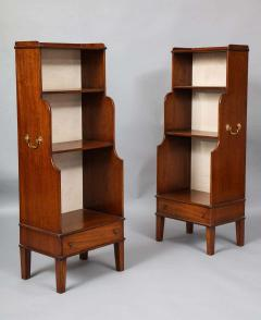Pair of Georgian Style Waterfall Bookcases - 1485273