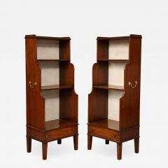 Pair of Georgian Style Waterfall Bookcases - 1486662