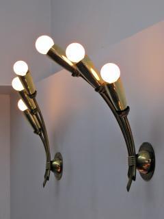 Pair of German Triple Arm Wall Lights - 692335