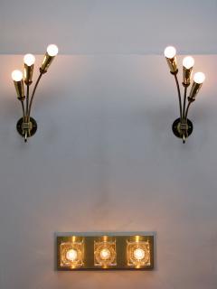 Pair of German Triple Arm Wall Lights - 692336