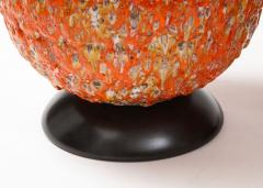 Pair of Giant Italian Volcanic Glazed Ceramic lamps  - 1995955