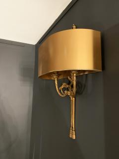 Pair of Gilt Bronze Sconces by Maison Charles - 1286040