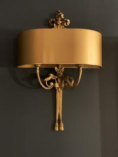 Pair of Gilt Bronze Sconces by Maison Charles - 1286041