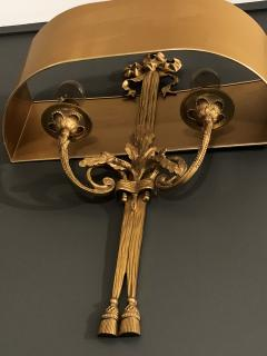Pair of Gilt Bronze Sconces by Maison Charles - 1286042
