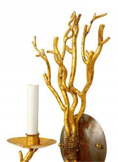Pair of Gilt Faux Coral Sconces - 1099946