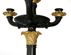Pair of Gilt and Patinated Bronze Charles X Candelabra - 1739068