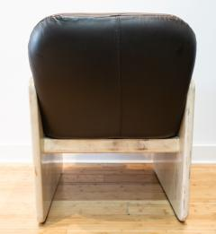 Pair of Goatskin Parchment and grey leather Mid Century Chairs - 1038635