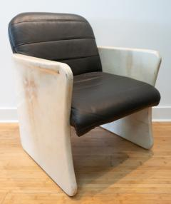 Pair of Goatskin Parchment and grey leather Mid Century Chairs - 1038638