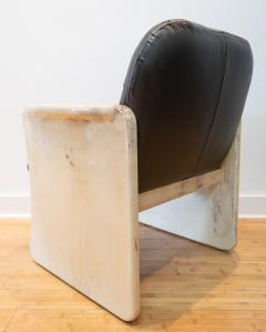Pair of Goatskin Parchment and grey leather Mid Century Chairs - 1038640