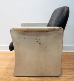 Pair of Goatskin Parchment and grey leather Mid Century Chairs - 1038643