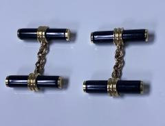 Pair of Gold and Onyx Cufflinks English C 1970 - 2061623