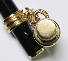 Pair of Gold and Onyx Cufflinks English C 1970 - 2061628