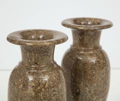 Pair of Gotland Limestone Vases - 757355