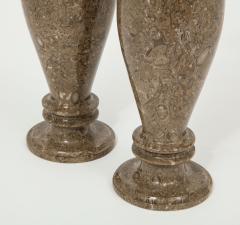 Pair of Gotland Limestone Vases - 757357