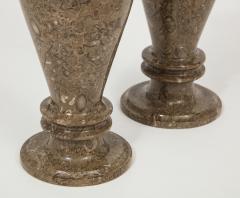 Pair of Gotland Limestone Vases - 757358