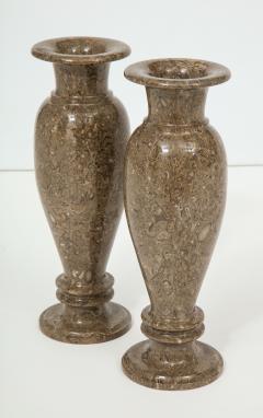 Pair of Gotland Limestone Vases - 757361