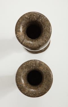 Pair of Gotland Limestone Vases - 757362
