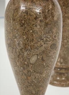 Pair of Gotland Limestone Vases - 757363