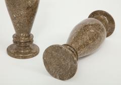 Pair of Gotland Limestone Vases - 757364