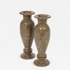 Pair of Gotland Limestone Vases - 757859