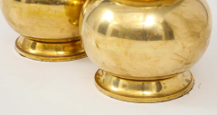 Pair of Gourd Brass Lamps - 1933923