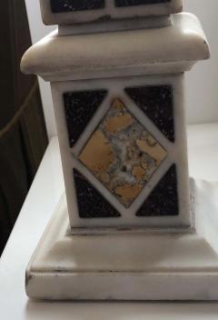 Pair of Grand Tour Marble Specimen Obelisks - 1262176