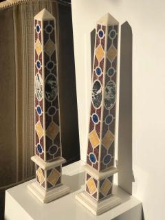 Pair of Grand Tour Marble Specimen Obelisks - 1262177