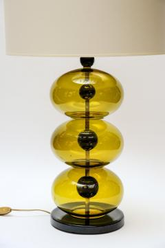 Pair of Green and Black Murano Glass Table Lamps - 894402