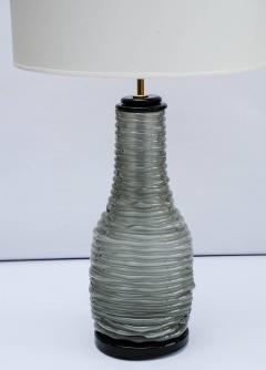 Pair of Grey and Black Murano Glass Table Lamps - 714909