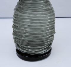 Pair of Grey and Black Murano Glass Table Lamps - 714912