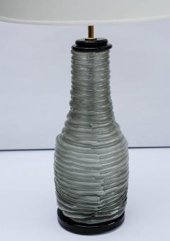 Pair of Grey and Black Murano Glass Table Lamps - 714913