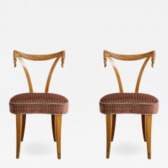 Pair of Grosfeld House Carved Chairs - 839094