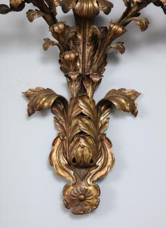 Pair of Hammered Brass Sconces - 2077215