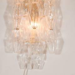 Pair of Handblown Murano Glass Polyhedral Sconces with Brass Fittings - 1579358
