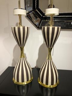 Pair of Harlequin Table Lamps by Gerald Thurston - 1455976