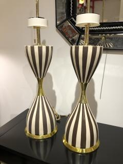 Pair of Harlequin Table Lamps by Gerald Thurston - 1455979
