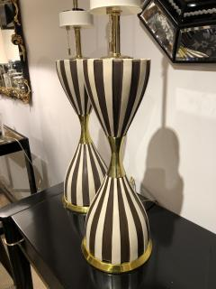 Pair of Harlequin Table Lamps by Gerald Thurston - 1455984