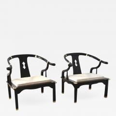 Incroyable Pair Of Hollywood Regency Asian Inspired Club Chairs   754958