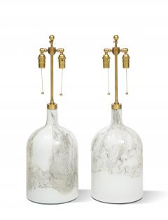 Pair of Holmegaard lamps Designed by Michael Bang  - 1939647