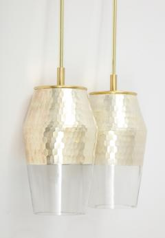 Pair of Honeycomb Pendant Lights - 1844577