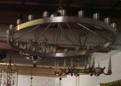 Pair of Huge Industrial 24 light Chandelier - 982821