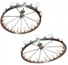 Pair of Huge Industrial 24 light Chandelier - 982822