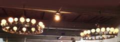 Pair of Huge Industrial 24 light Chandelier - 982827