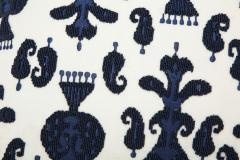 Pair of Ikat Inspired Blue and Cream Pillows - 1502612
