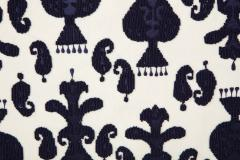 Pair of Ikat Inspired Blue and Cream Pillows - 1502616